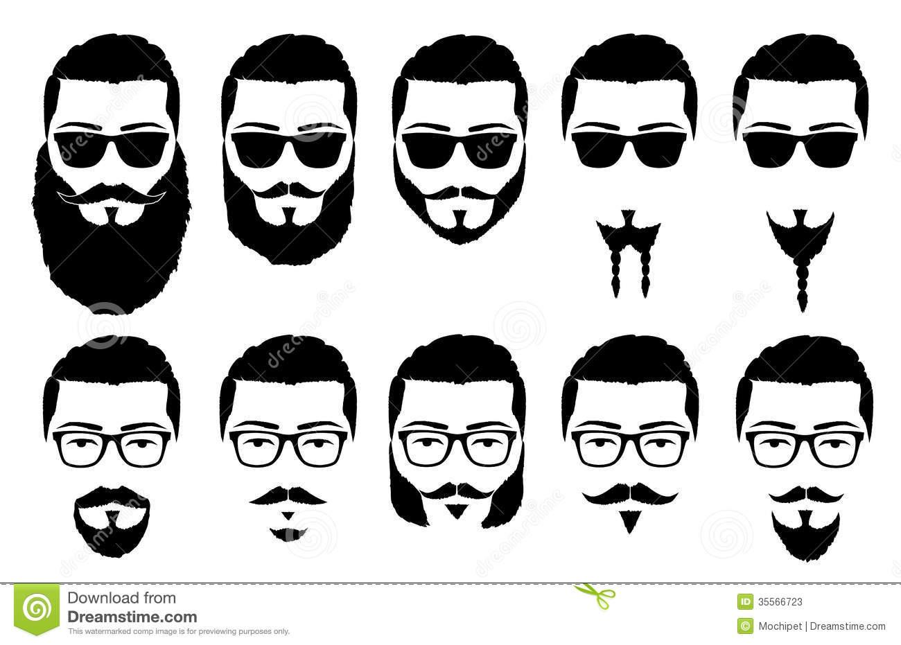 Beards cliparts.