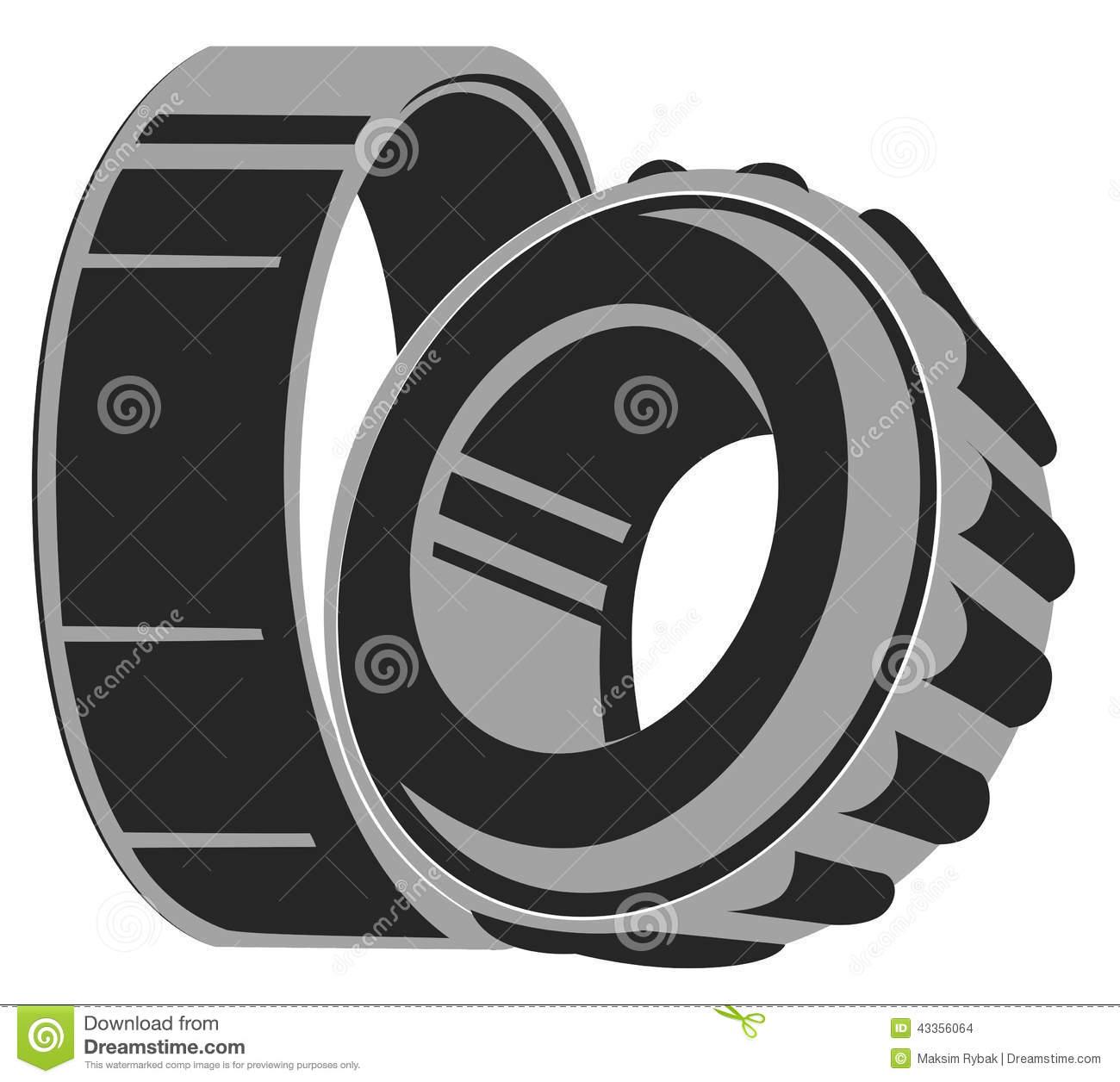 Symbol Bearing Stock Vector.