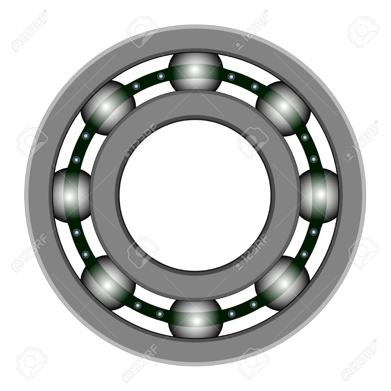 Ball bearing for vector design. Files included.