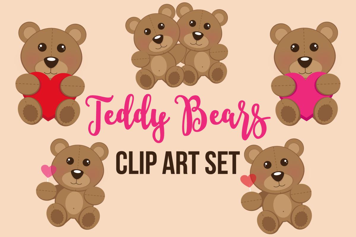 Teddy Bears Clip Art Set.