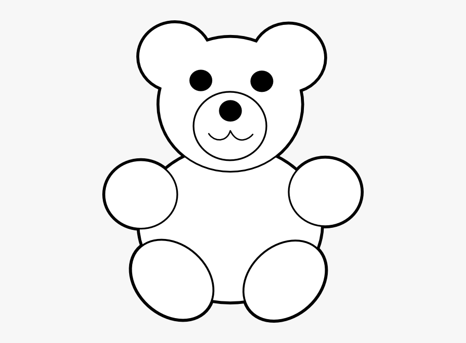 Bear Clipart Template.