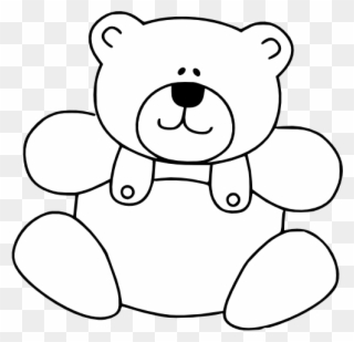 Free PNG Teddy Bear Black And White Clip Art Download.