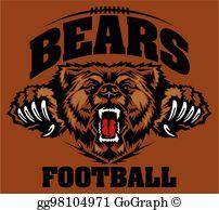 Bears Mascot Clip Art.