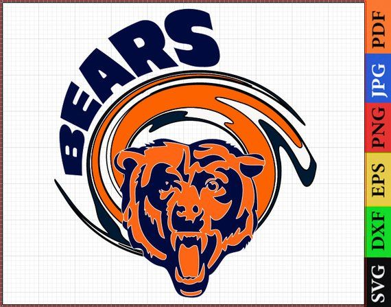 Chicago Bears SVG Files, Chicago Bears NFL Printable, NFL Clipart.