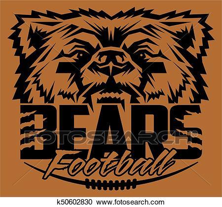 Bears football Clipart.