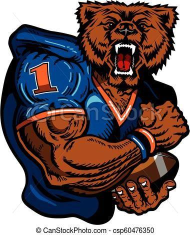 bears football Vector.