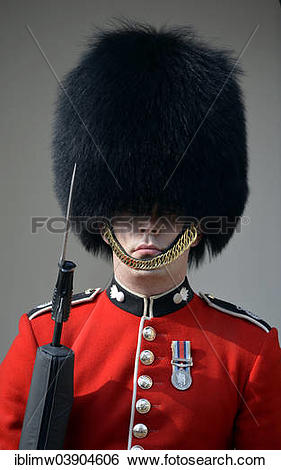"""Stock Images of """"Queen's Guard, Royal Guard with bearskin hat."""