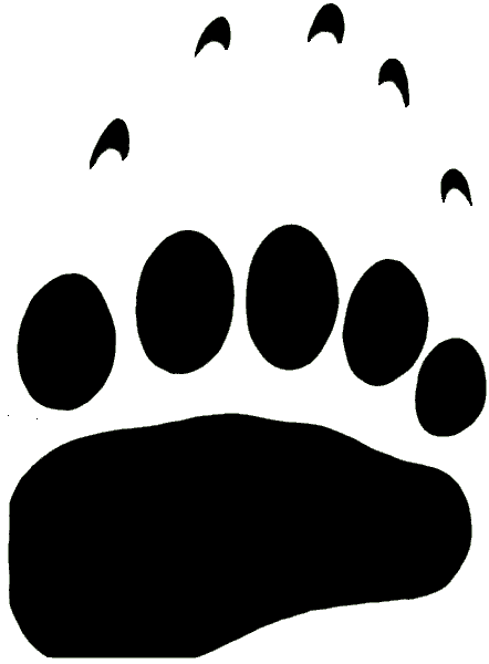 Bear Tracks Clipart.