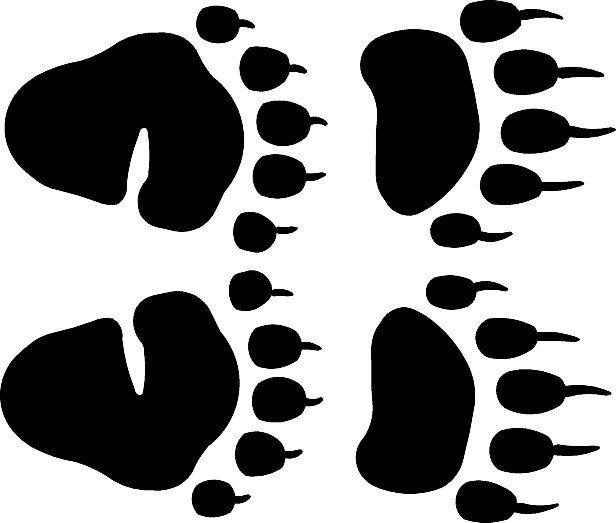Black bear tracks clipart.