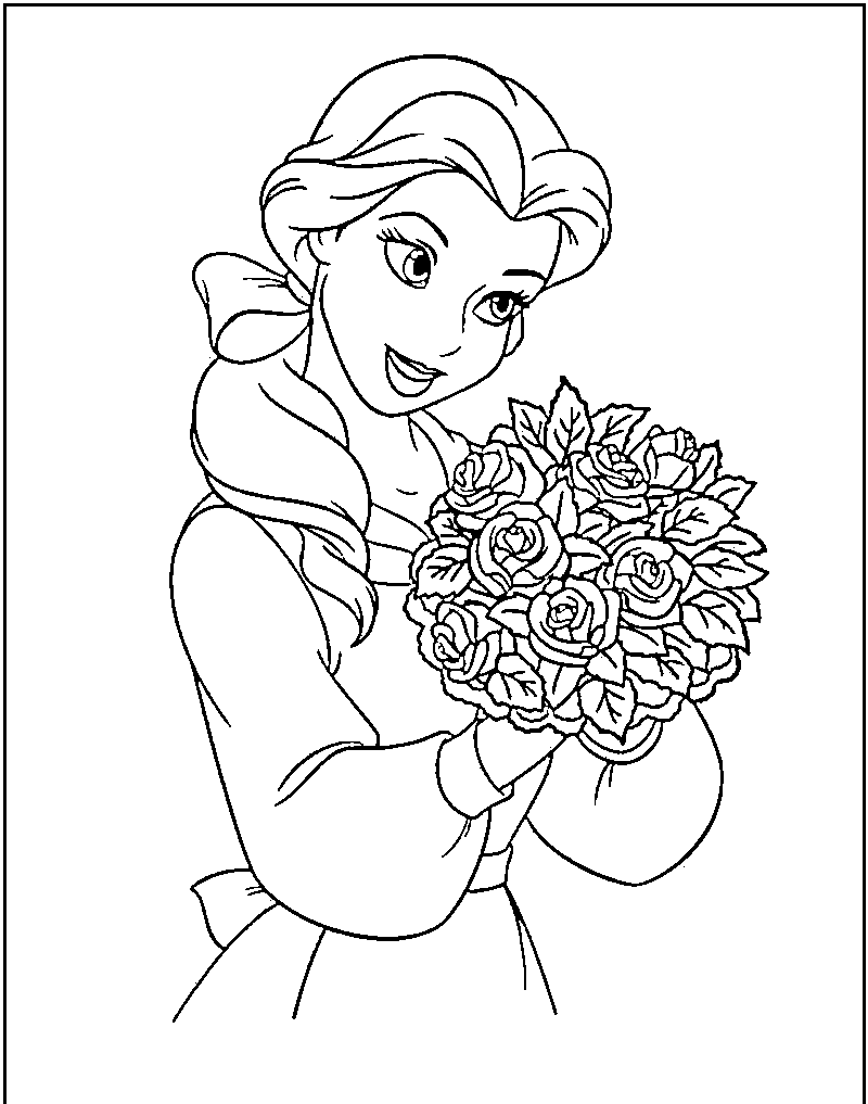 Free Beauty And The Beast Black And White Clipart, Download.