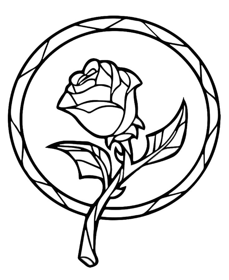 Beauty and the beast black and white clipart 6 » Clipart Station.