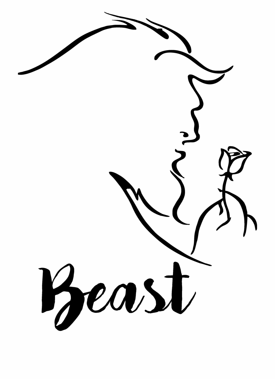 Beauty And The Beast Clipart Black And White.