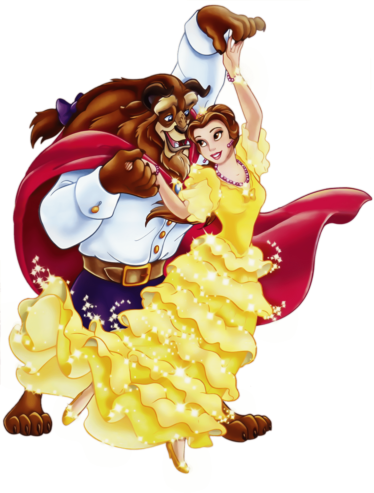 Belle Dancing With the Beast transparent PNG.