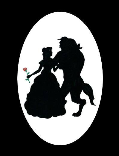 Beauty and the Beast Silhouette.