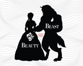 Beauty and the beast svg.