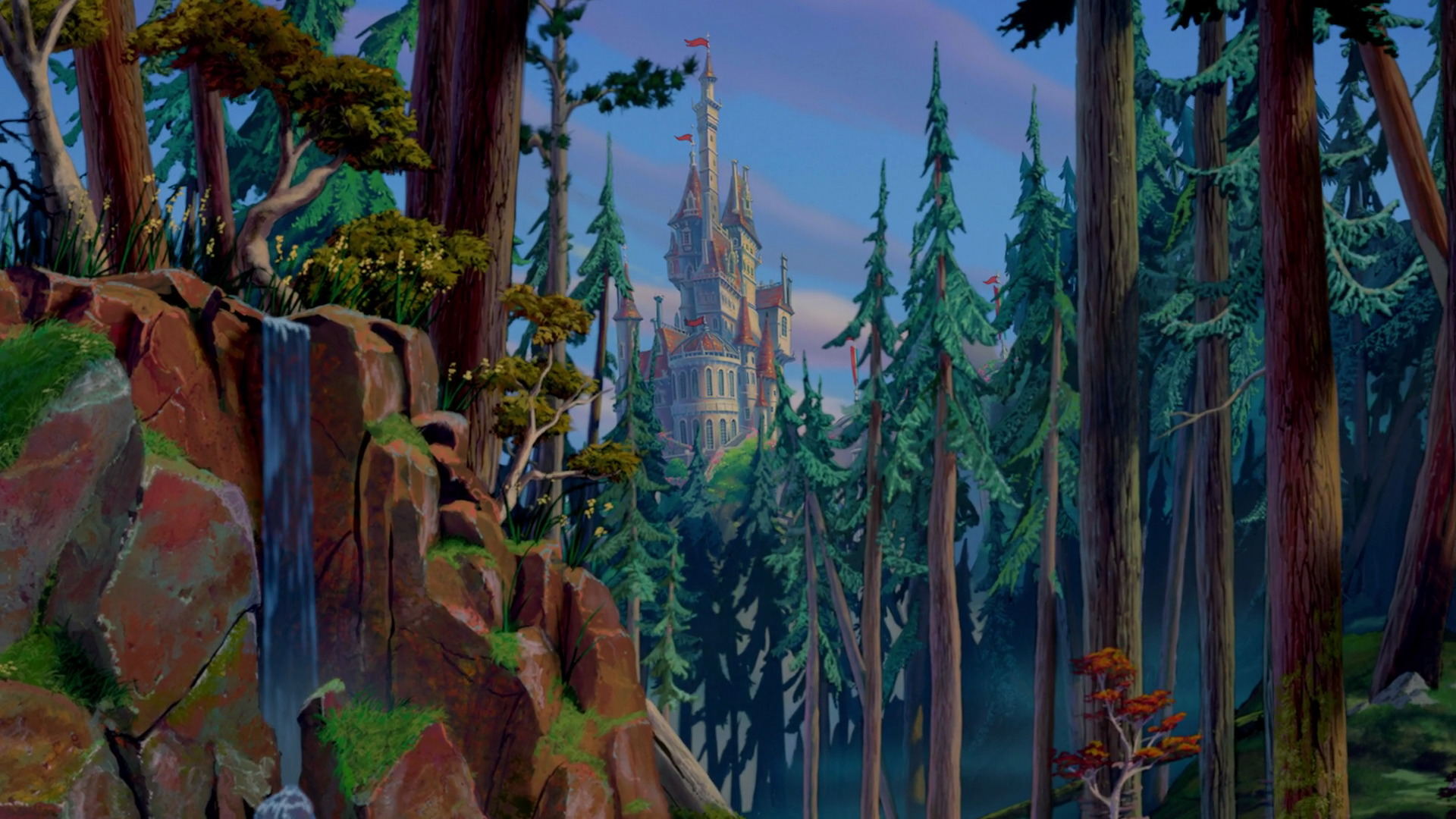 Beast's castle clipart - Clipground Beauty And The Beast Castle