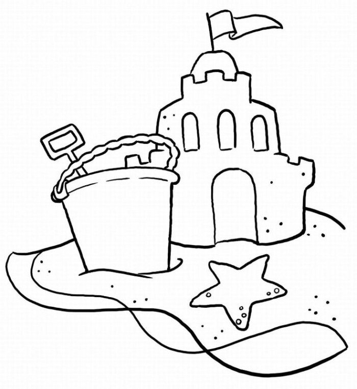 Beast's Castle Coloring Page.