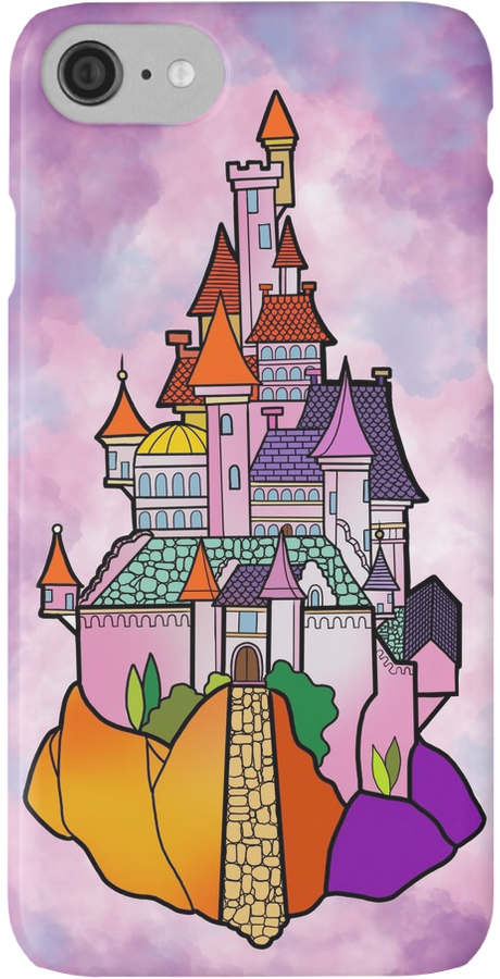 """Beauty and The Beast Castle Illustration """" iPhone Cases & Skins by."""