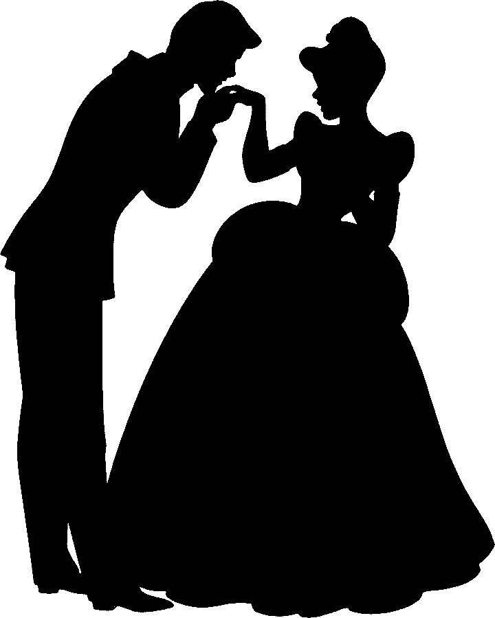 Beauty and the beast mirror silhouette free clipart.