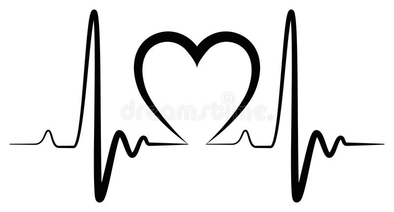 Heartbeat Line Clipart Black And White.