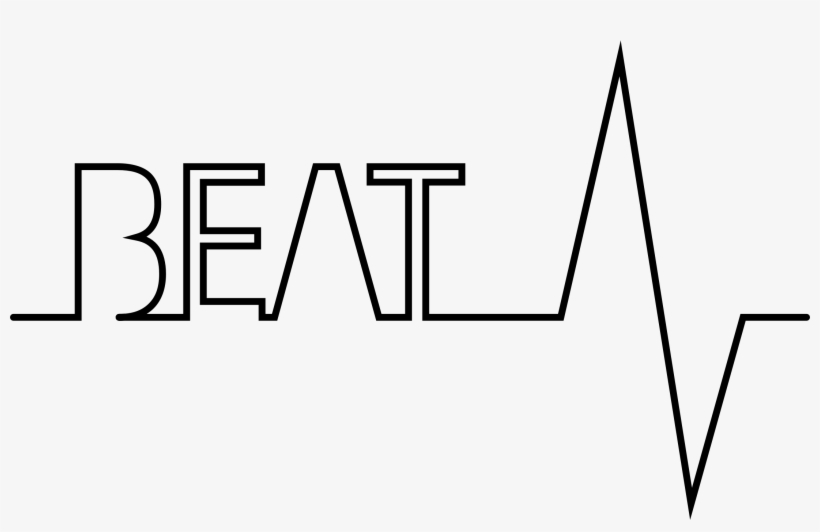Black And White Library Beat Typography Big Image Png.