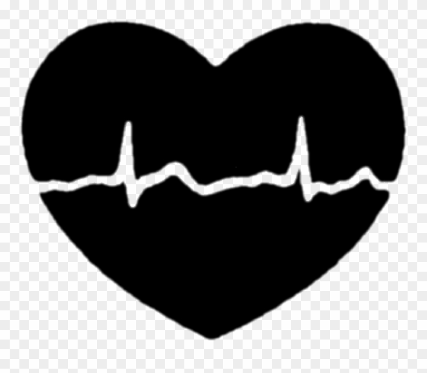 Heart Beat Clipart Black And White.