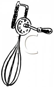 Royalty Free Clipart Image: A Black and White Hand Beater.