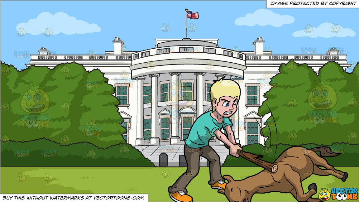 Beat A Dead Horse and White House South Lawn Background.