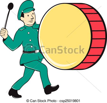 Clipart images of beating a drum.