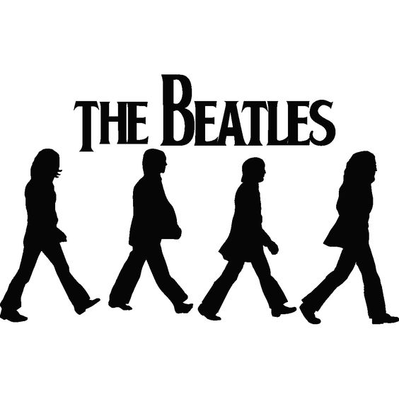 Images For > Beatles Silhouette Abbey Road.