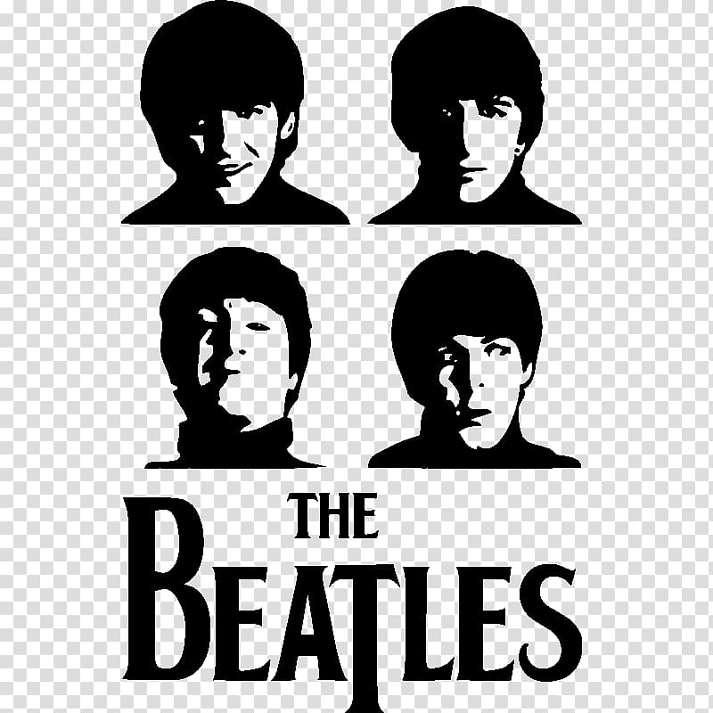 The Beatles in Mono Wall decal Sticker, The beatles transparent.