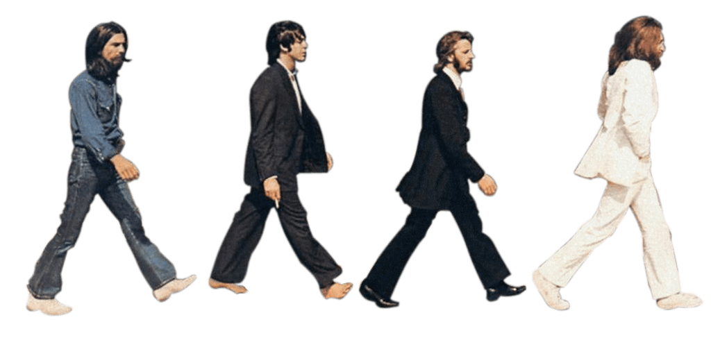 The Beatles Abbey Road transparent PNG.