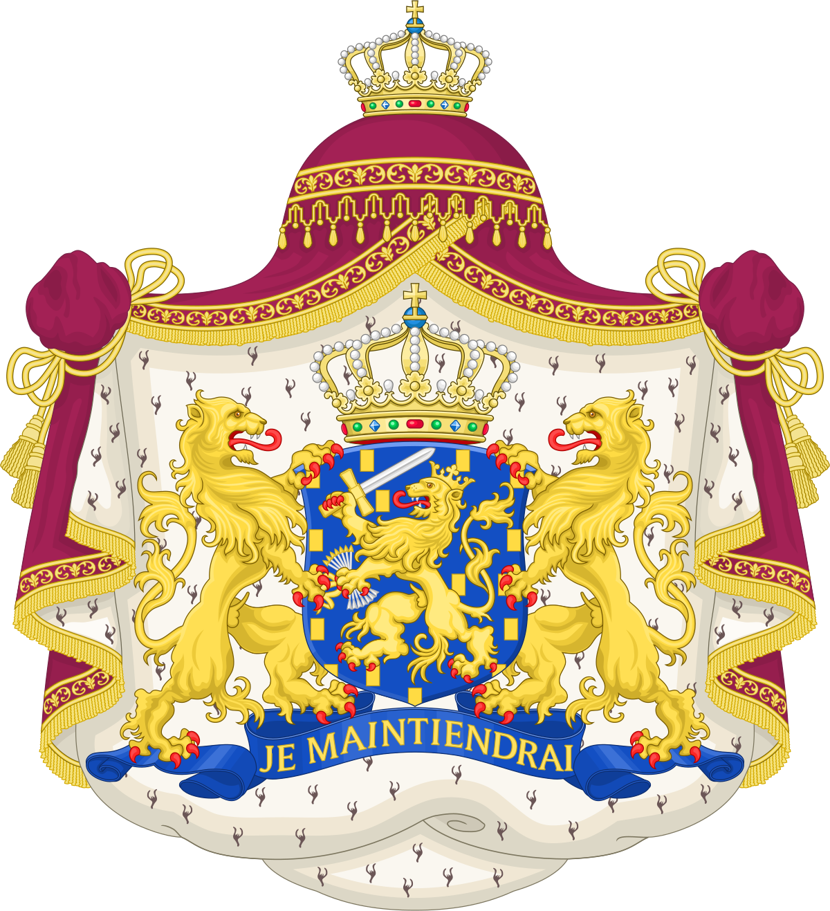 Coat of arms of the Netherlands.