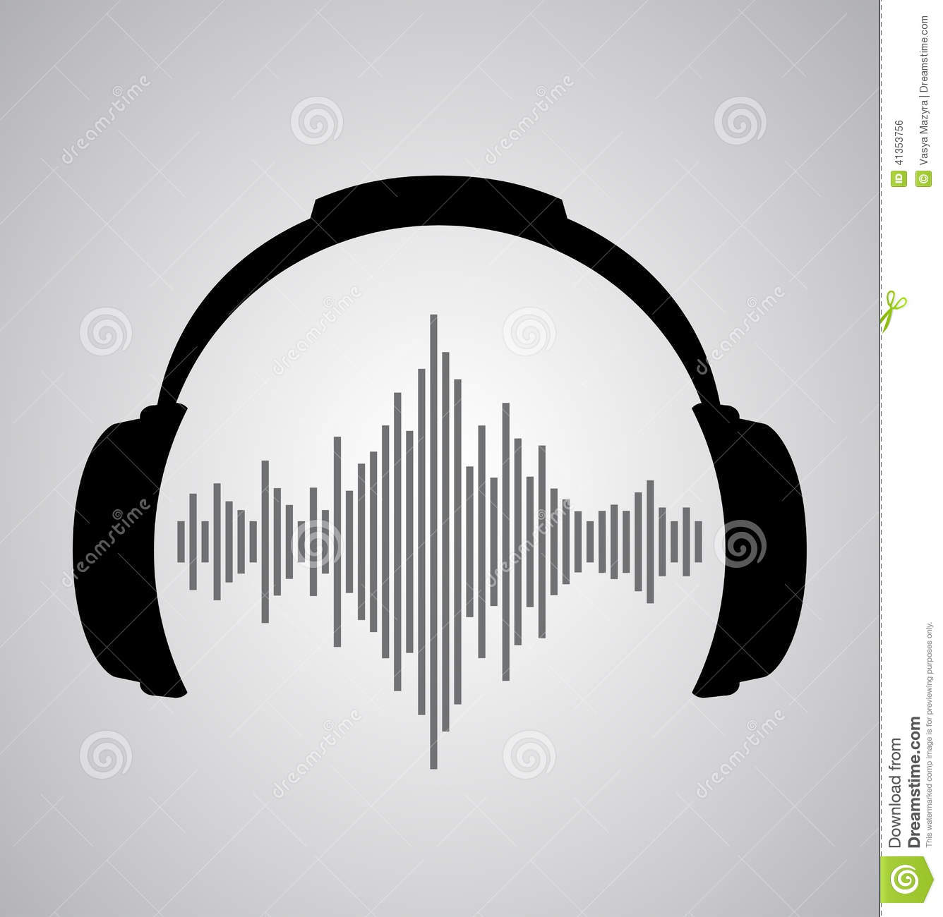 Free collection of Headphone clipart sound wave. Download.