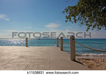 Stock Photography of Empty patio of a Creole restaurant at Beau.