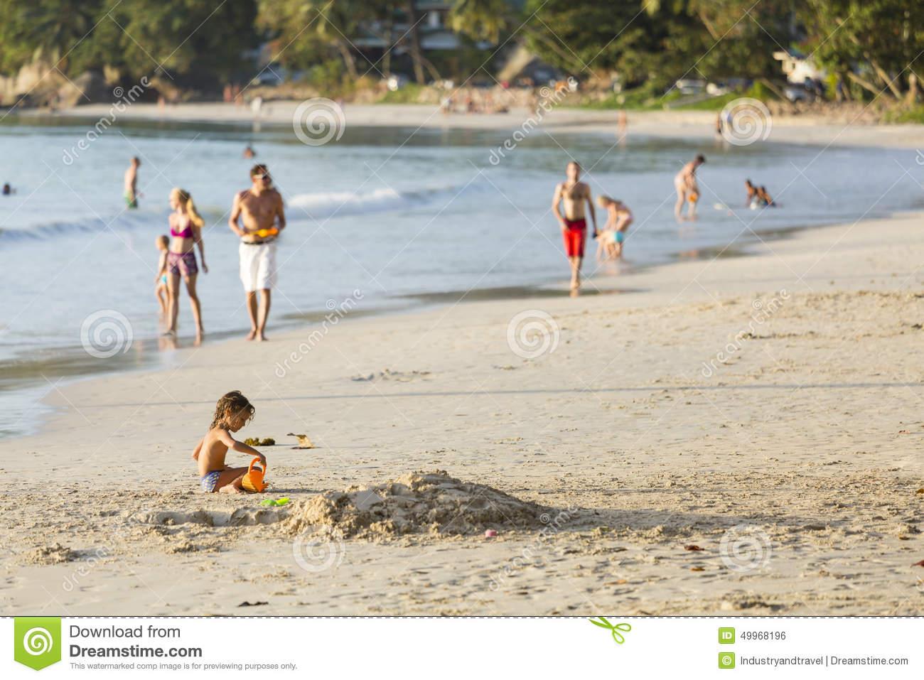 Beau Vallon Beach, Mahe, Seychelles, Editorial Editorial Photo.