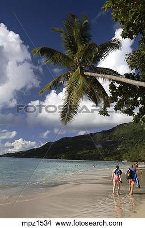 Stock Photo of Anse Beau Vallon Mahe Island Seychelles mpz1534.
