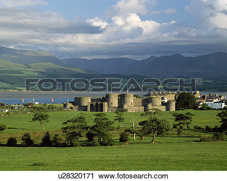 Stock Photography of Wales, Anglesey, Beaumaris. A general view of.