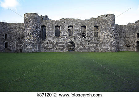 Stock Photo of Beaumaris castle k8712012.