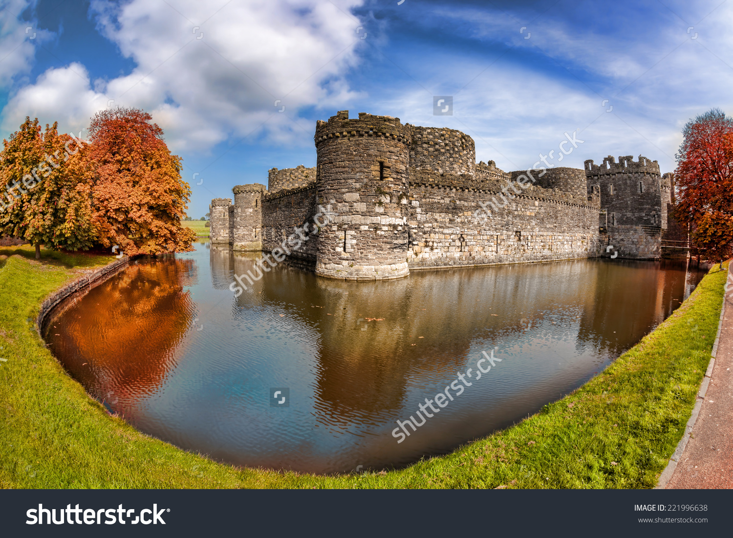 Famous Beaumaris Castle In Anglesey, North Wales, United Kingdom.