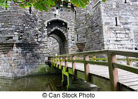Stock Photography of Beaumaris castle in north wales uk.