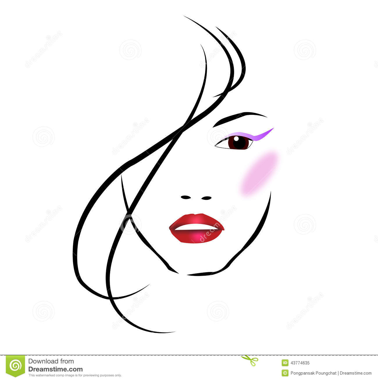 Beauty clip art.