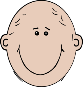 Bald woman clipart.