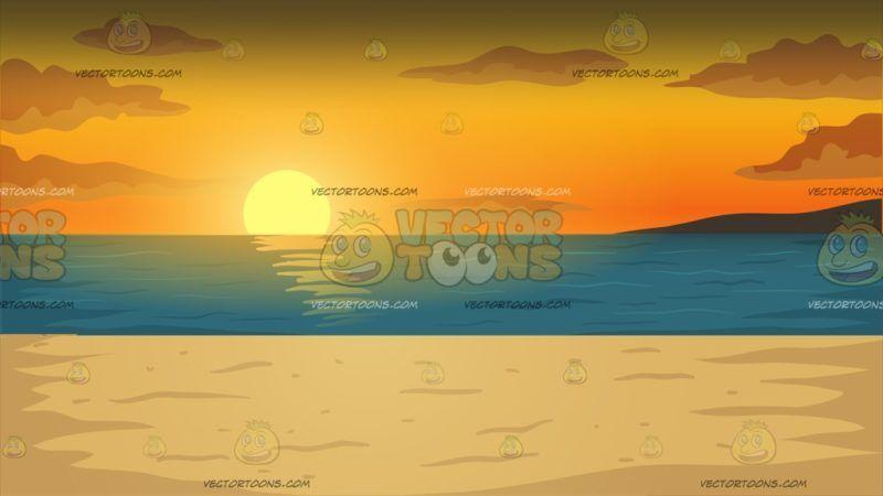 Beach Sunset Background.
