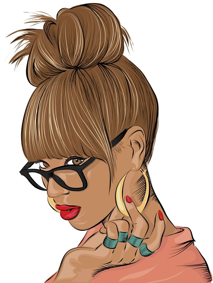 Beautiful Black Women Clipart.