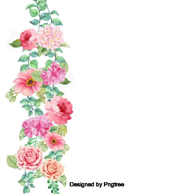 Flower Border Vector, Flower Border, Corner, Pansy PNG.