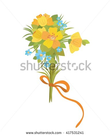 Wildflower Bouquet Stock Photos, Royalty.