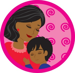 Mother and child clipart #8