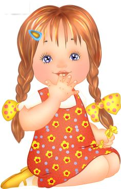 Beautiful girl child clipart.