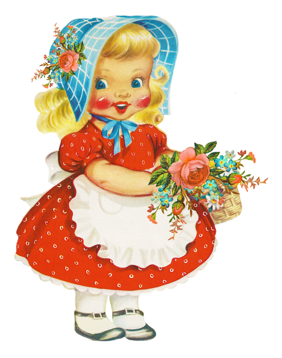 Beautiful baby girl clipart.